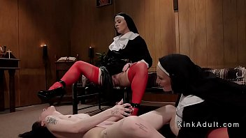 Two dominant nuns anal fucks brunette video