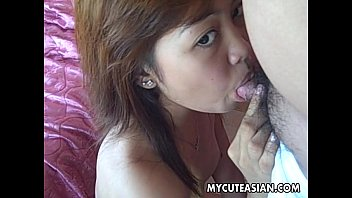 Penis size and vaginal response Asian cute teen sucking and fucking a small cock