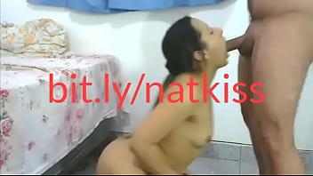 Nat Kiss mamando e fodendo a buceta no pau do roludo