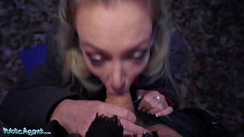 Public Agent Blonde Ozzie Isabelle Deltore fucks to save the bush