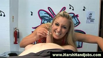 Angel long gives a harsh handjob