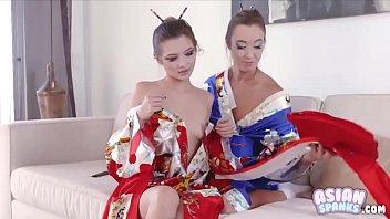 Lesbian Geisha Teen Licking Pussy (Alex de la Flor - Christy Love): AsianSpanks.com