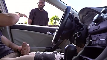 Watch gay 15 minutes promo - Black guy gets caught watching white guy jerk off in his car