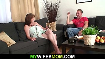 He doggy-fucks big tits mother-in-law