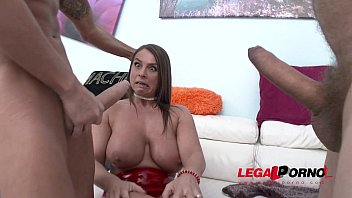 Busty MILF Sexy Susi double anal addiction 100% anal   swallow