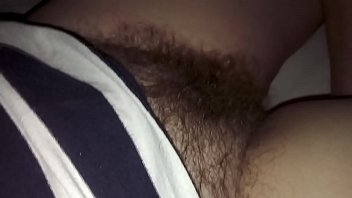Sleeping wife'_s hairy pussy up close