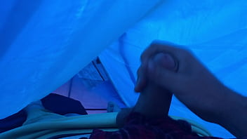 Ruined orgasm in my tent