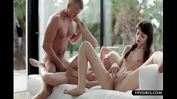 Two lesbians and one neighbour lead to a dirty play