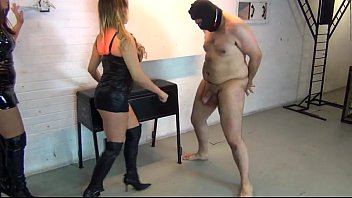Naked ballbusting stories Ballbusted by two british models