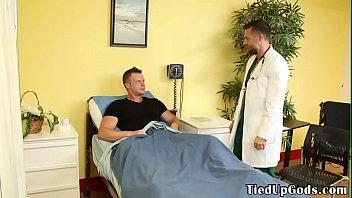 BDSM doctor ties up patient for deepthroating