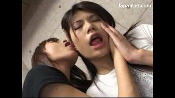 Cute Asian Girls Kissing Sucking Tongues Spitting