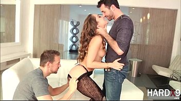 Slutty pretty girl Remy gets her ass impaled by two hard cocks
