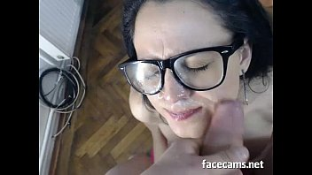 Huge Cum Shots On Her Face - FaceCams.net