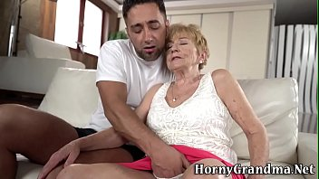 Old Woman Gets  Fingered Before Riding  Riding