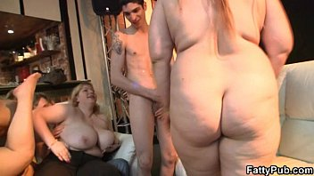 Huge tits bbw group Partying fatty is boned from behind