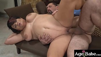 Mature Dolly Bee's pierced pussy licked and   pounded by her new neighbor Leslie