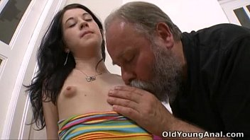 Breast by man sucking - Olga has her breasts licked by older man