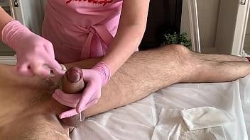 A lot of semen during ejaculation on depilation 34分钟