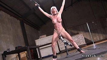Big tits blonde gets bdsm fuck training