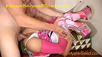Pink meat teens Pink shoes pink skirt and pink stockings