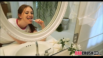 Teen Stepdaughter Fucked While Brushing Teeth