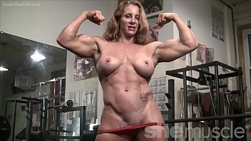 Compleatly naked women - Naked female bodybuilder sexy red headed muscle