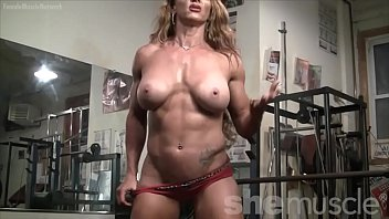 Naked Female Bodybuilder Sexy Red Headed Muscle thumbnail