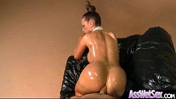 (nikki benz) Slut Girl With Big Wet Olied Butt Get Anal video-25