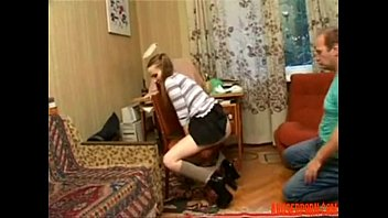Russian Home Sex Stepfather with Not His Stepdaughter  - abuserporn.com