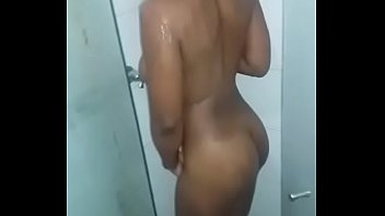 5529 Ebony taking shower preview