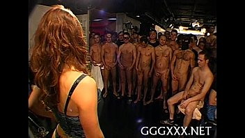 Loads of jizz during gang group sex