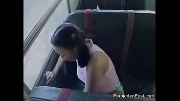 Hot Blowjob On Public Bus For HOrny Teen Caught Smoking