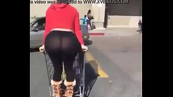 White girl Ass in spandex bugee Ass out.