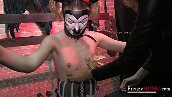 Vax beater strip Frenzybdsm lesbian power fantasies got fulfilled