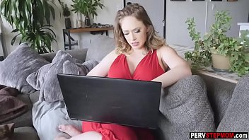 Horny stepson has fantasy about his busty MILF stepmom