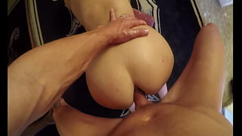 Anal creampie couple on gopro huge dick in her ass