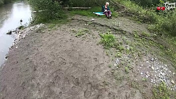Hot Blonde Deepthroat Dick while during Recreation Nature – Public