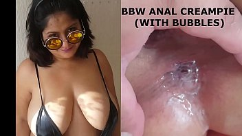 Bbw anal creampie with bubbles