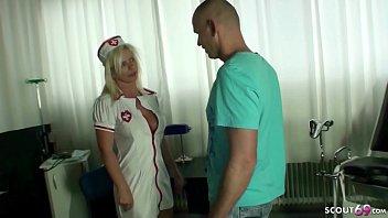 GERMAN FEMALE MILF DOCTOR NADJA HELP PATIENT WITH FUCK