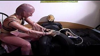 Fetish and perverse sluts pumping a cock