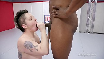 Gamebird fighting cock Nikki sequoia mixed wrestling will tile taking his bbc hard and deep