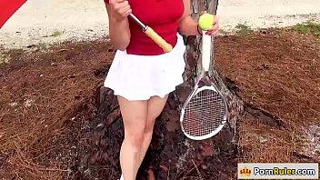 Pretty tennis teacher fucks for cash