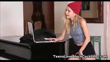 Blonde Teen Craves Big Black Cock