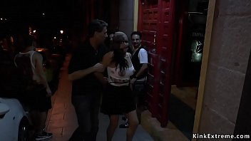 Gagged slave disgraced at night