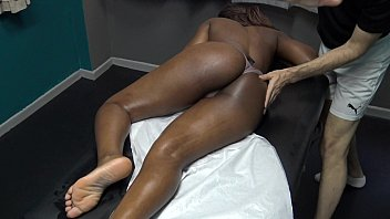 Sexy Black Wife Gets Full Body Sensual Massage