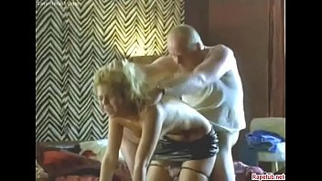 Young Russian blonde prostitute gets fucked hard by an old ugly dude