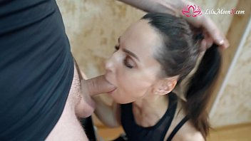 Lilu Moon Blowjob Big Dick and Rough Sex with Cumshot after training
