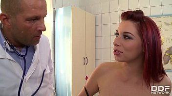 Curvy Redhead Leila Moon's Monthly Dick Sucking Check-up