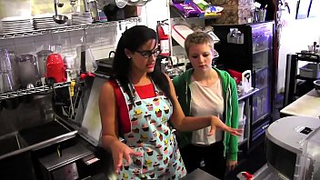 Young teen doing girl Young blonde alani pi has job interview as barista at penny barbers quick-service coffee shop