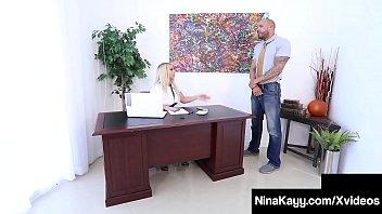 Big Butt Boss Lady Nina Kayy Ass Fucked By Big Black Cock!